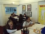 25 lucky winners attended a cartooning workshop